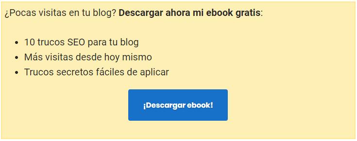 Descargar Ebook para aumentar lista de mailing