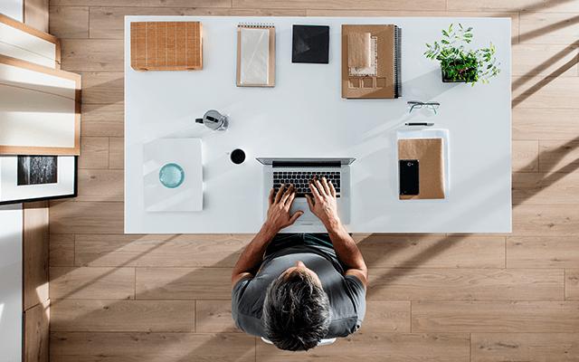 Oficina de un emprendedor